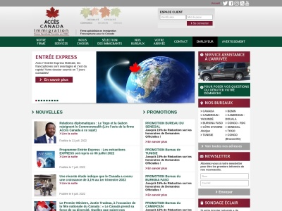 AccesCanada.com - Aide aux immigrants