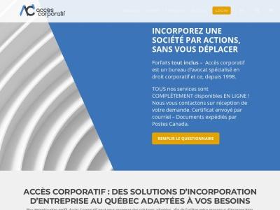 Accès Corporatif - Incorporation et démarrage d'entreprise