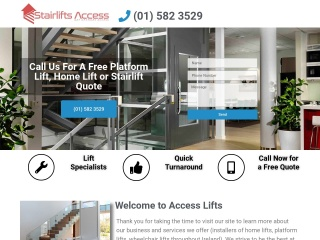 Screenshot for accesslifts.ie