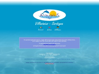 screenshot acquariushotel.it