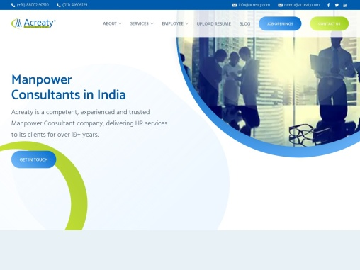 Manpower Consultants in India   HR Solutions company:Acreaty