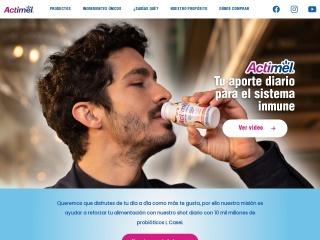 Captura de pantalla para actimel.com.ar