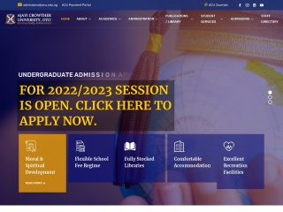 Screenshot for acu.edu.ng