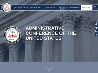 Screenshot for acus.gov