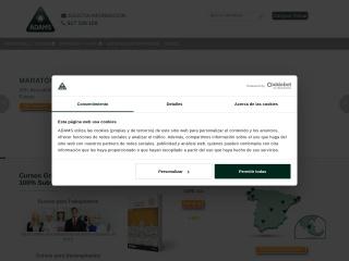 Captura de pantalla para adams.es