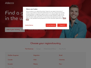 Screenshot for adecco.com