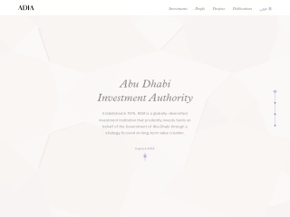 Screenshot for adia.ae