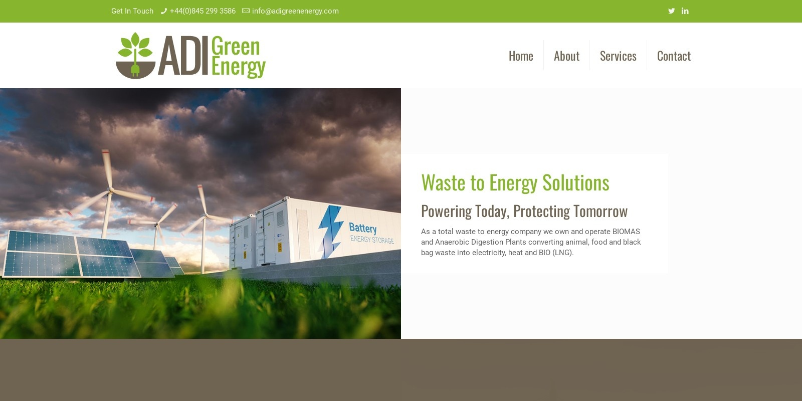 Preview of http://www.adigreenenergy.com