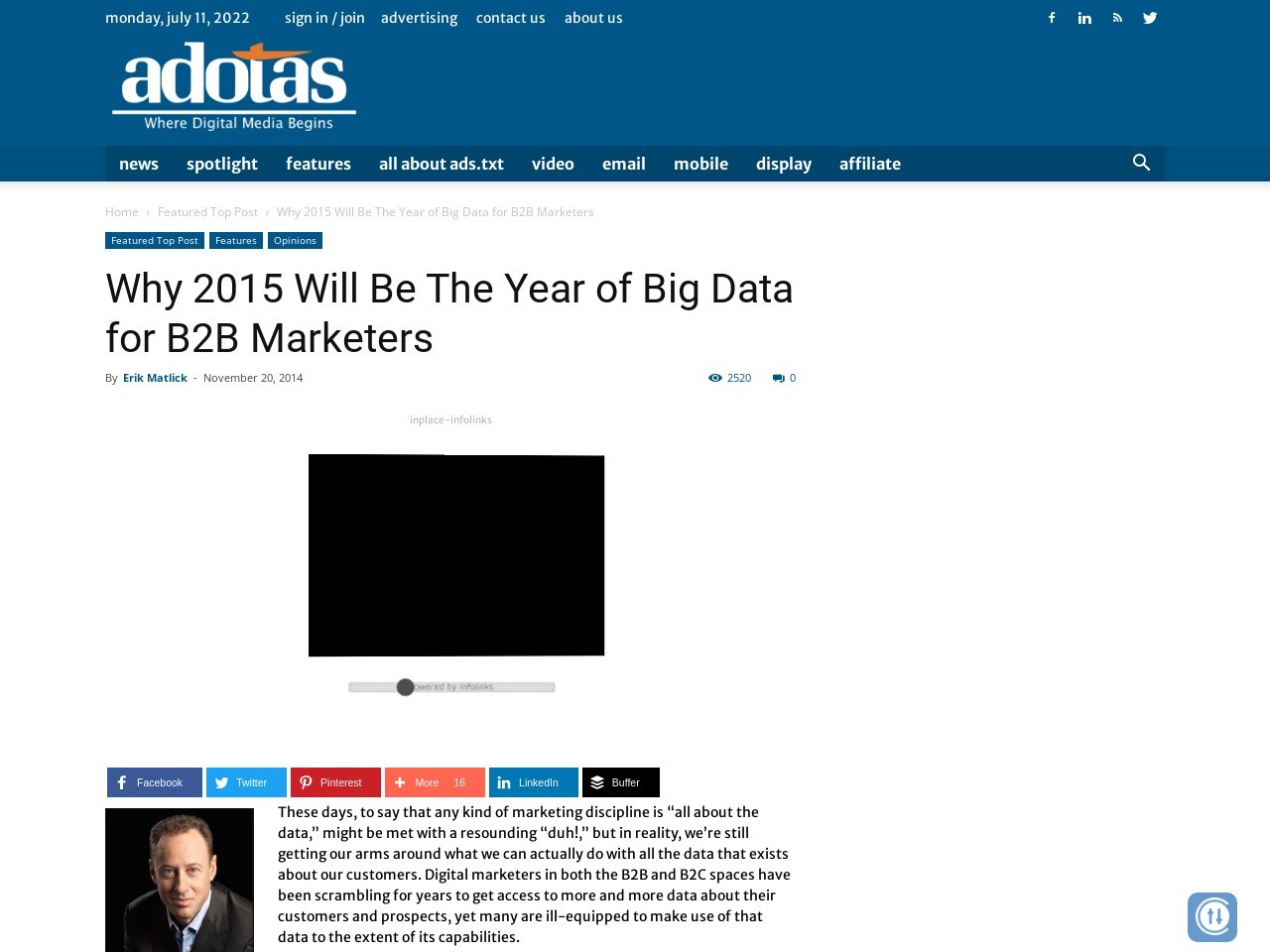 2015 Will Be The Year of Big Data for B2B Marketers