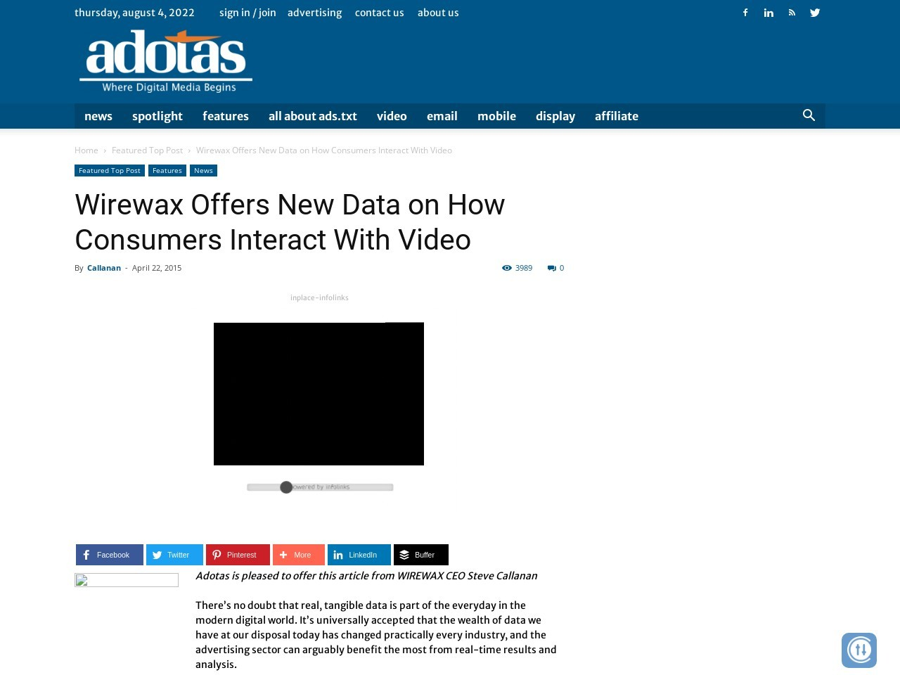 Wirewax Offers New Data on How Consumers Interact With Video