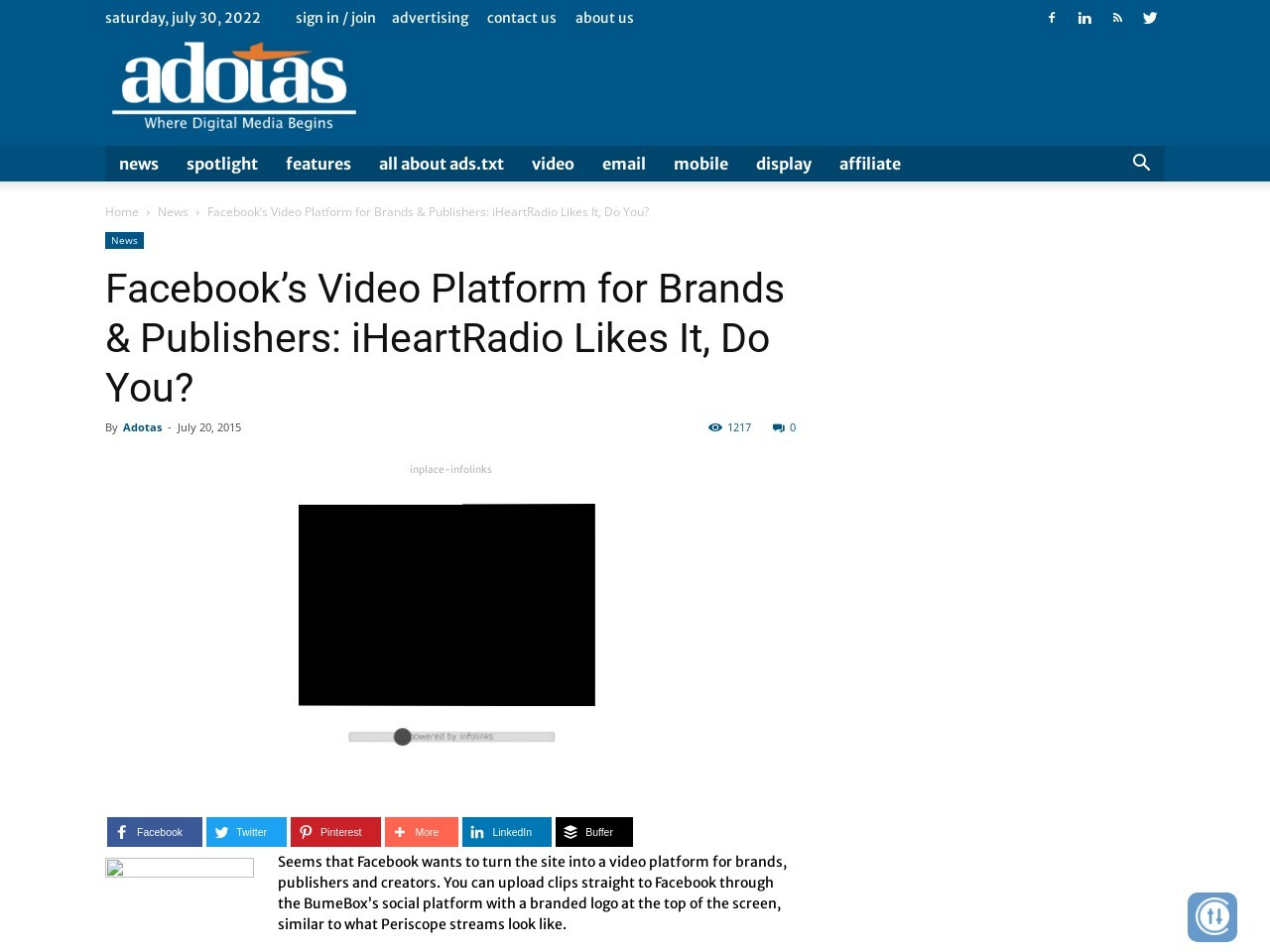 Facebook's Video Platform for Brands & Publishers: iHeartRadio Likes It, Do You?