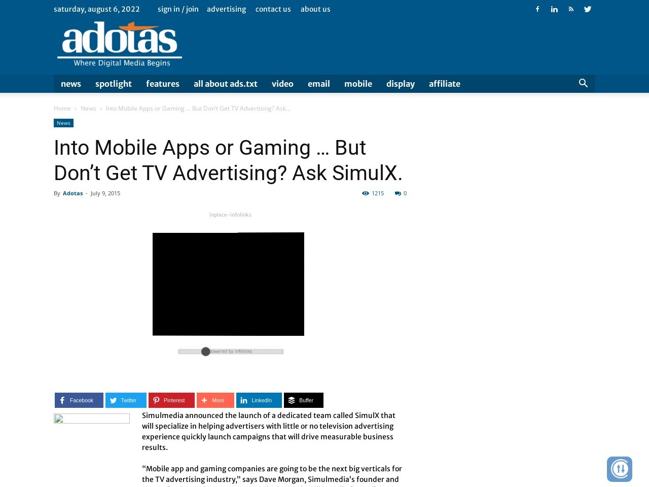 Into Mobile Apps or Gaming … But Don't Get TV Advertising? Ask SimulX.