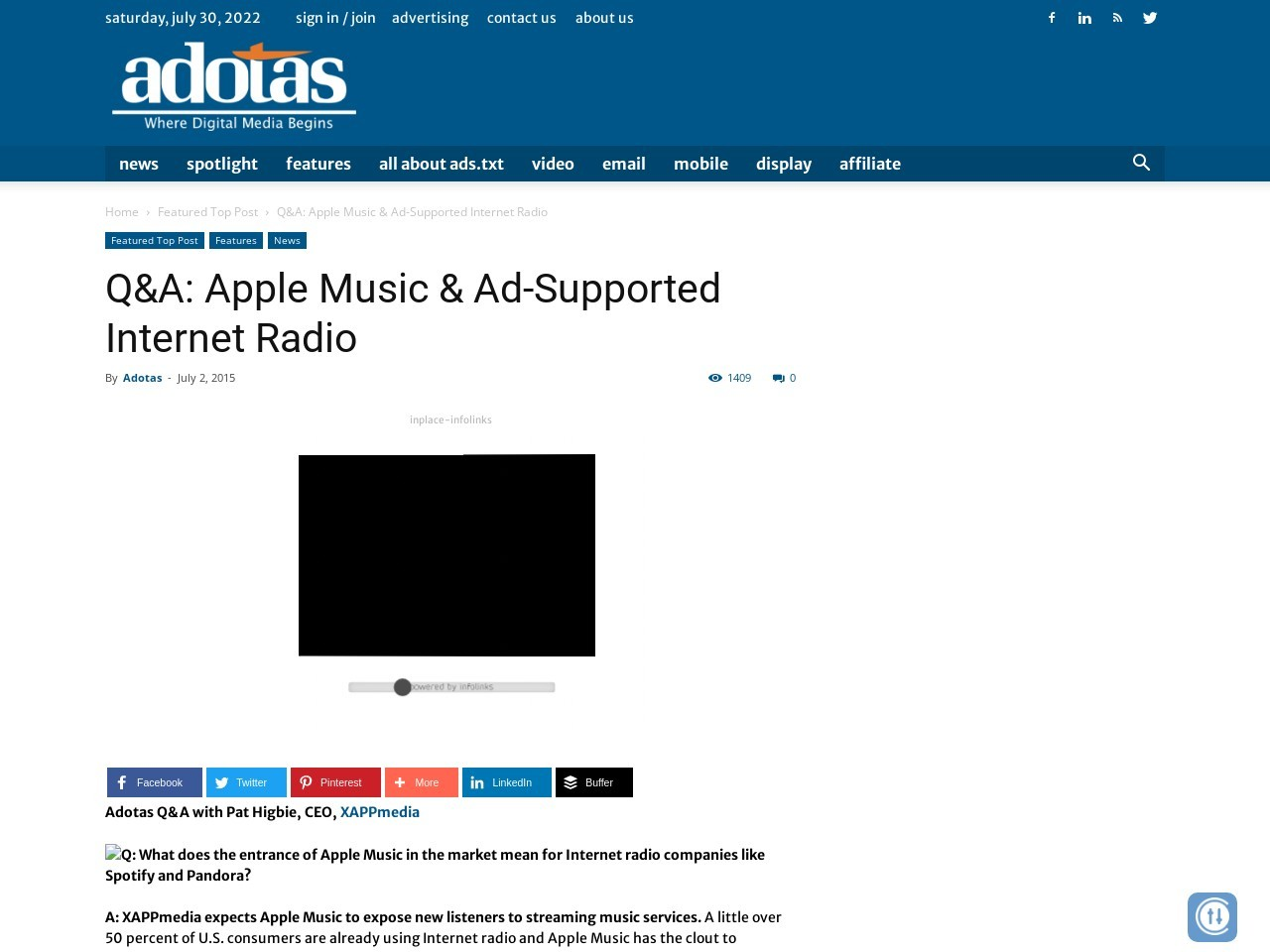 Q&A: Apple Music & Ad-Supported Internet Radio