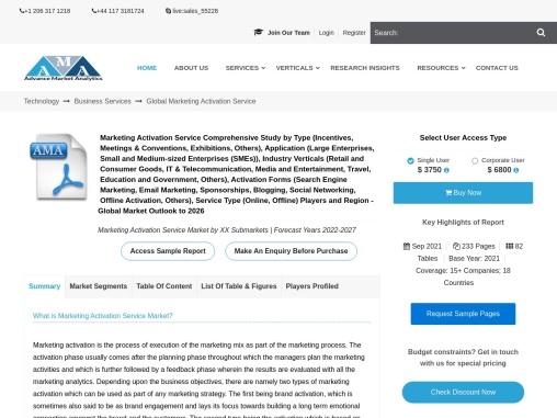 Marketing Activation Service Market – Major Technology Giants in Buzz Again