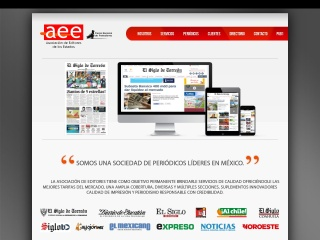 Captura de pantalla para aee.com.mx