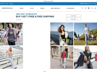 Screenshot for aeropostale.com