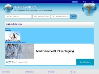 Screenshot der Website aerzte-austria.at