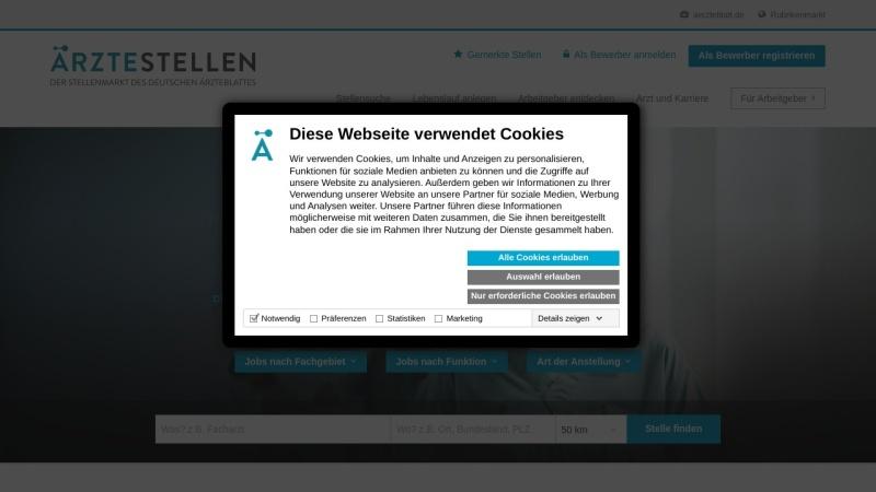 www.aerztestellen.de Vorschau, Deutsches Ärzteblatt Stellenmarkt