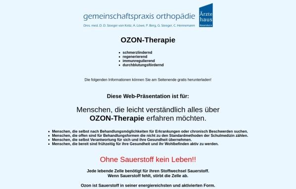 Vorschau von www.aerztliche-ozontherapie.de, Ozontherapie