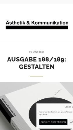 Vorschau der mobilen Webseite www.aesthetikundkommunikation.de, Ästhetik & Kommunikation