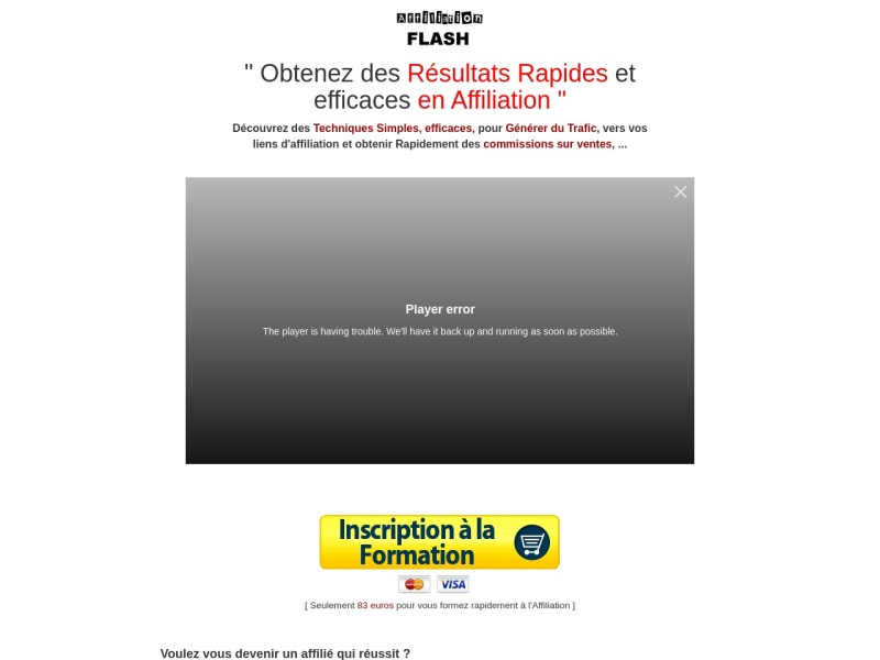affiliation flash  des revenus avec l'affiliation