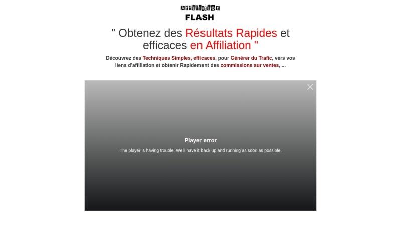 affiliation flash : des revenus avec l'affiliation