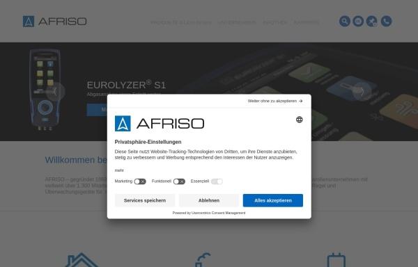 Vorschau von www.afriso.de, AFRISO Euro-Index GmbH