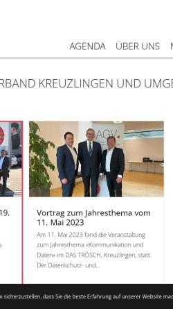 Vorschau der mobilen Webseite www.agvkreuzlingen.ch, Arbeitgeberverband Kreuzlingen und Umgebung [AGV]