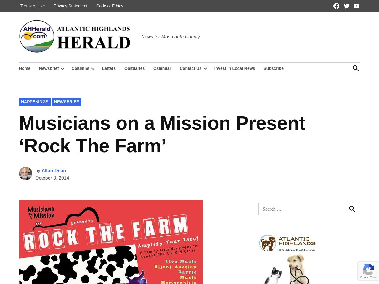 Musicians on a Mission Present 'Rock The Farm'