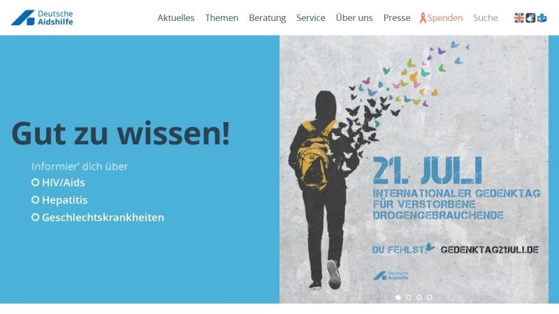 www.aidshilfe.de Vorschau, AIDS Hilfe e.V.