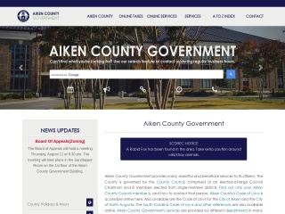 Screenshot for aikencountysc.gov