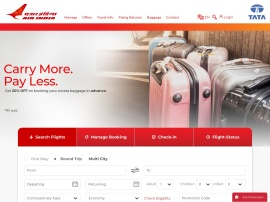 Online store Air India