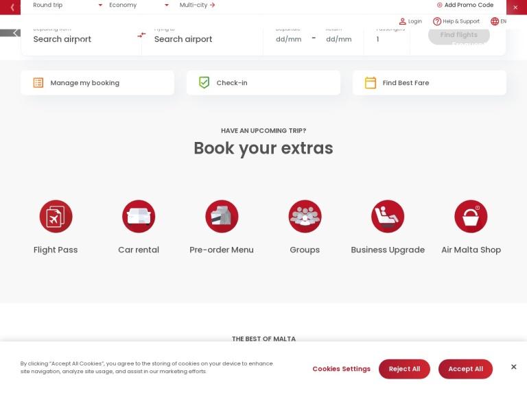 Air Malta screenshot