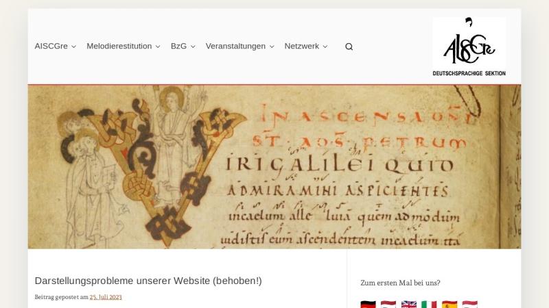 www.aiscgre.de Vorschau, Gregorianischer Choral