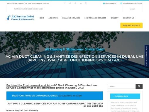 AC Deep Cleaning Services Dubai