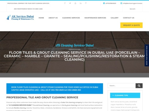 Tile and Grout Cleaning Service Dubai