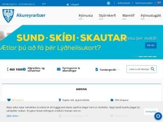 Screenshot for akureyri.is