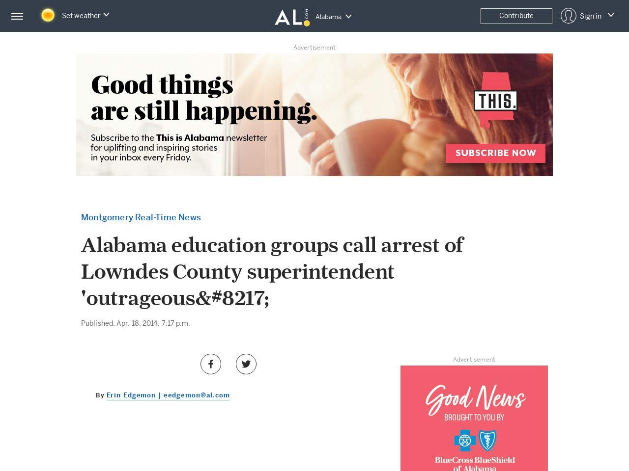 Alabama education groups call arrest of Lowndes County superintendent …
