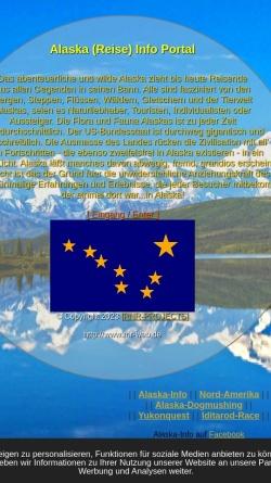 Vorschau der mobilen Webseite www.alaska-info.de, Alaska Info