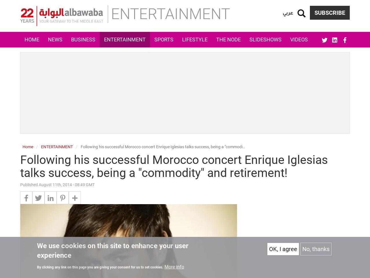Following His Successful Morocco Concert Enrique Iglesias Talks Success …