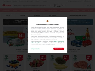 Captura de pantalla para alcampo.es