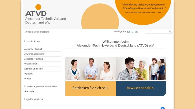 www.alexander-technik.org Vorschau, Gesellschaft der Lehrer/innen der F.M. Alexander-Technik