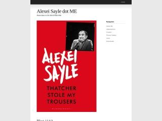 Screenshot for alexeisayle.me