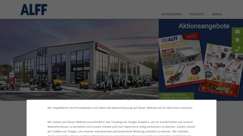 www.alff-schoenecken.de Vorschau, Firma Friedrich Alff