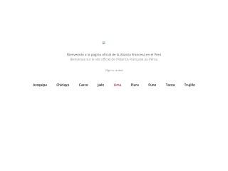Captura de pantalla para alianzafrancesa.org.pe
