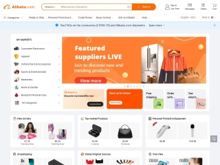 Screenshot for alibaba.com