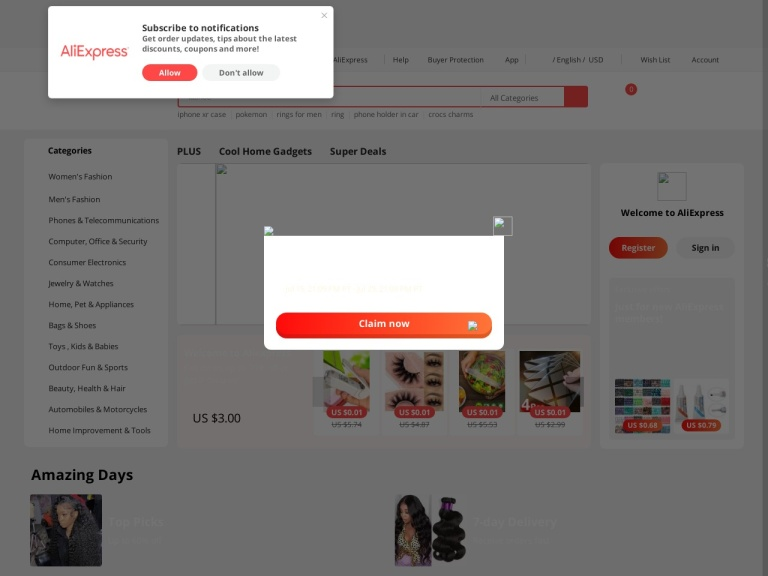 AliExpress by Alibaba.com screenshot