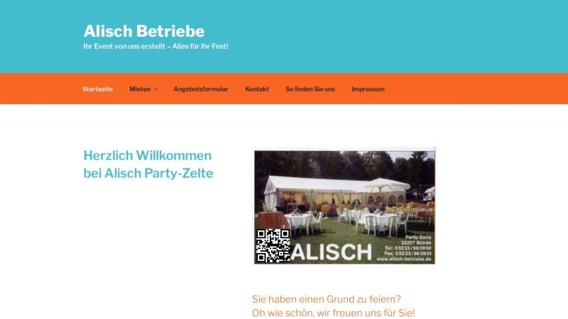 www.alisch-betriebe.de Vorschau, Alisch-Betriebe