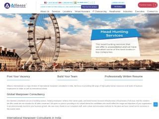 Screenshot for allianceinternational.co.in