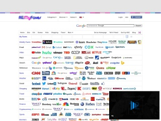 screenshot allmyfaves.com